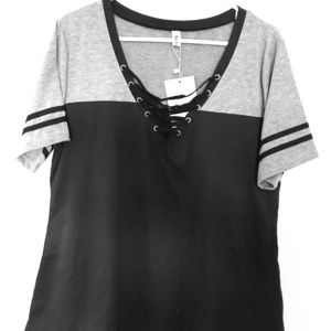 Tops - Black/grey shirt